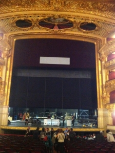 Escenari Gran teatre del Liceu visita amb l'Institut Català de Musicoteràpia i Síndrome de Williams